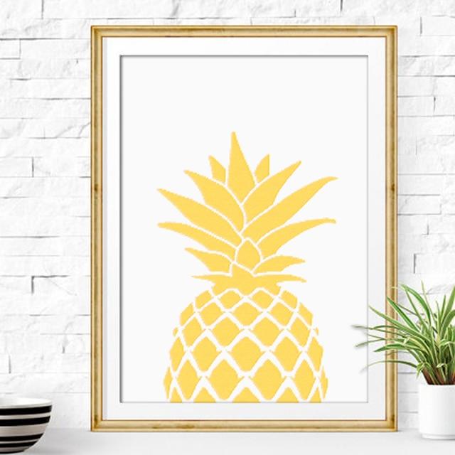 Minimalist Nordic Gold Pineapple Canvas Art Print Painting , Wall ...