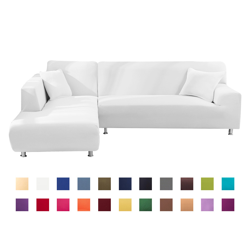 1 Or 2 Pcs Covers For Corner Sofa L Shaped Sofa Living Room Sectional Chaise Longue Sofa Slipcover Corner Sofa Stretch Elastic