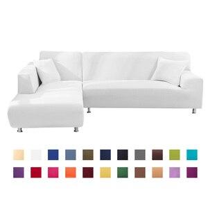 1 or 2 Pcs Covers for Corner Sofa L Shaped Sofa Living Room Sectional Chaise Longue Sofa Slipcover Corner Sofa Stretch Elastic(China)