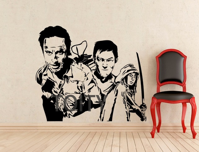 Buy the walking dead wall decal zombie for Mural walking dead
