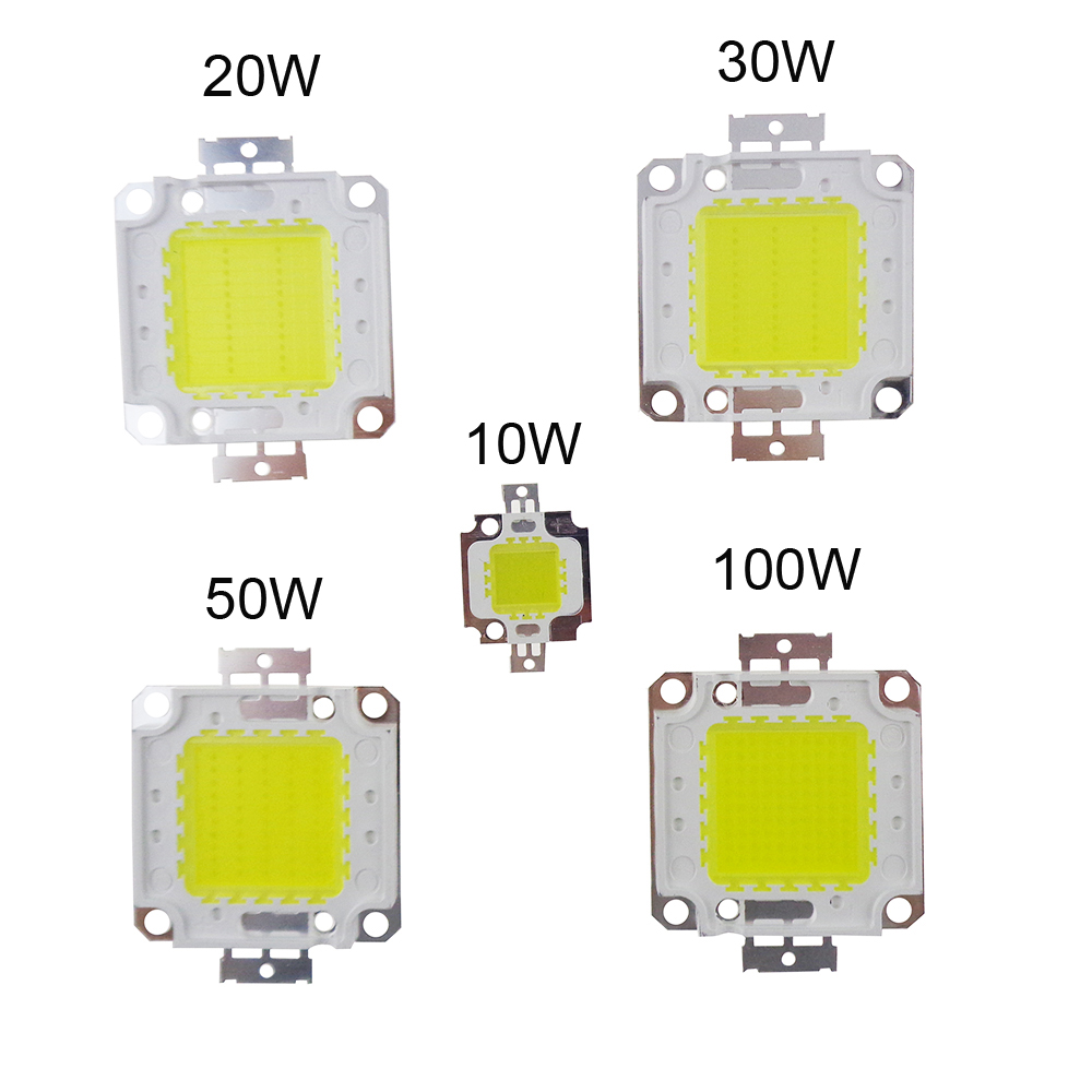 High Power COB LED Chips 10W 20W 30W 50W 100W DC10V-32V Integrated source SMD For Floodlight Spotlight Warm White /White outdoor охлаждение для компьютера cooltex 95x95x30mm 30w 100w 95x95x30 white