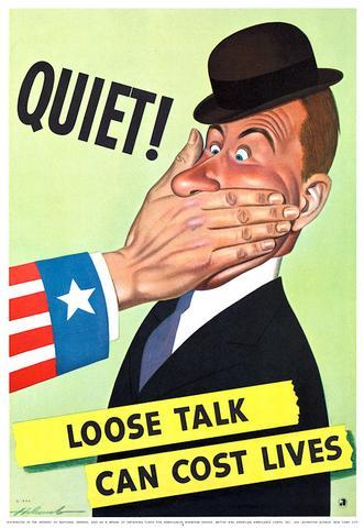 Loose Talk Can Cost Lives WWII WW2 Propaganda Poster Vintage Retro Canvas Painting DIY Wall Stickers