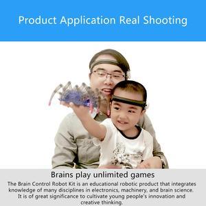 Image 3 - ילדים צעצועים חינוכיים מוח רדיו גל רעיון בקרת DIY עכביש מודיעין רובוט גלאי + צעצוע