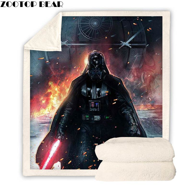 Darth Vader Star Wars Personalised Super Soft Fleece Baby Blanket