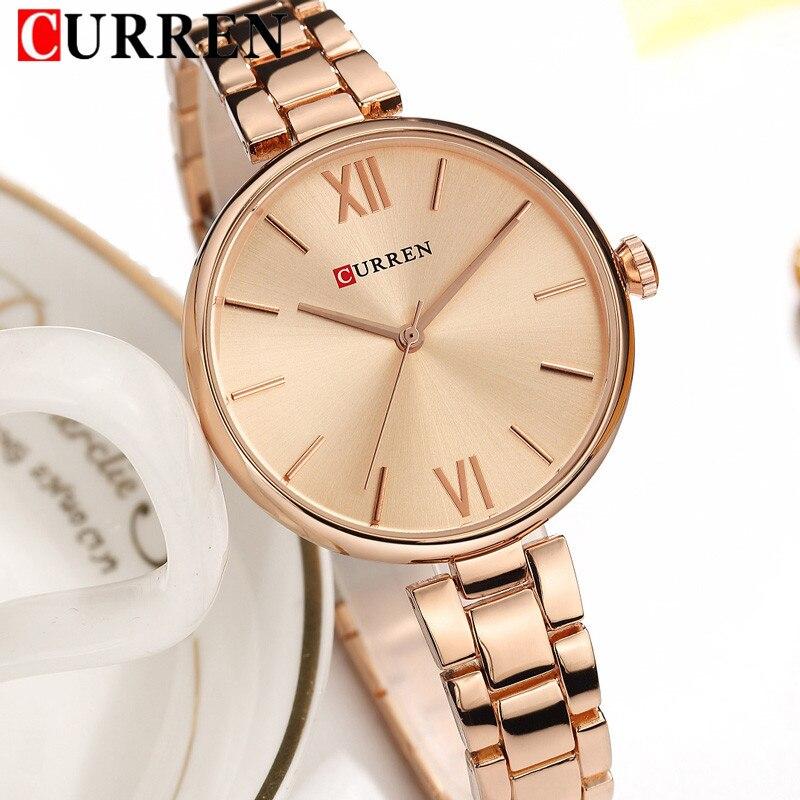 CURREN Fashion Women Watches Top Brand Luxury Ladies Girl Wrist Watch Stainless Steel Bracelet Classic Casual Female Clock 9017