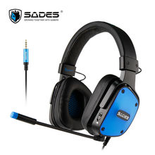 SADES Bpower 2017headphones Multi-platform gaming headset for PC Xbox one ps4 headset gamer with led microphone stereo headphone все цены