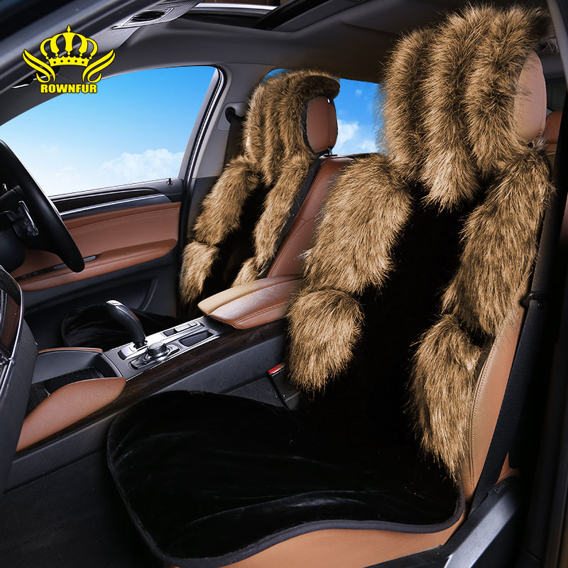1PC For One Front Car seat covers cushion winter universal auto seat fox faux fur sheep