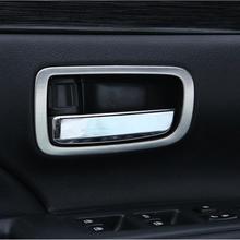 Автомобиль-Стайлинг нержавеющая сталь межкомнатные двери обрабатывать модифицированный декоративную отделку стикер чехол для Mitsubishi Outlander 2013-2017