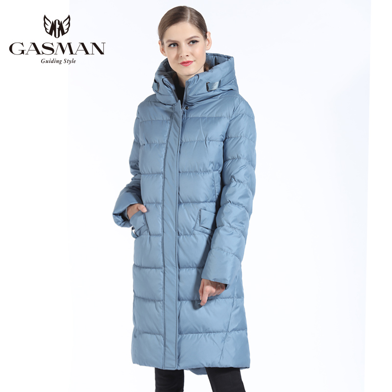 GASMAN 2018 Fashion Woman Winter Jacket Down Female Hooded Down   Parka   Long For Women Coat Winter Thickening Plus Size 5XL 6XL