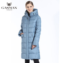GASMAN 2019 Fashion Woman Winter Jacket Down Female Hooded Down Parka Long For Women Coat Winter Thickening Plus Size 5XL 6XL(China)