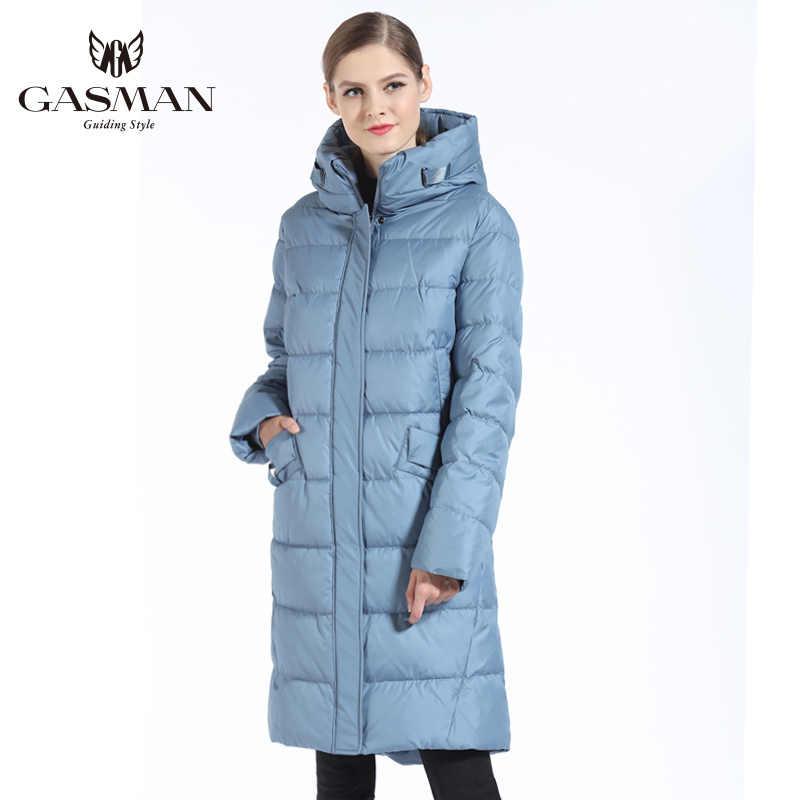 GASMAN 2019 Fashion Woman Winter Jacket Down Female Hooded Down Parka Long For Women Coat Winter Thickening Plus Size 5XL 6XL