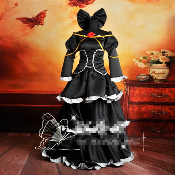 2017 New Clothing Made Anime Vocaloid Kagamine Rin Imitatton Black Dress Halloween Uniform Cosplay Costume Free shipping anime vocaloid snow miku kagamine rin lovely lolita dress uniform cosplay costume for women free shipping