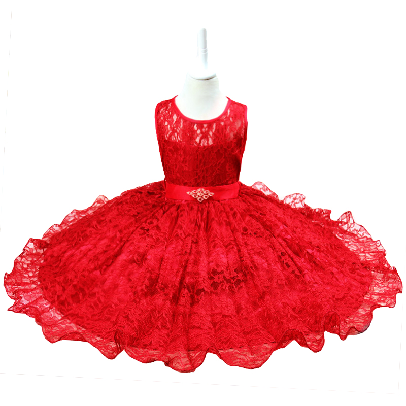 Summer Formal Kids Dress For Girls 2017 Princess Wedding Party Dresses Girl Clothes 2-12 Year Dress Bridesmaid Children Clothing
