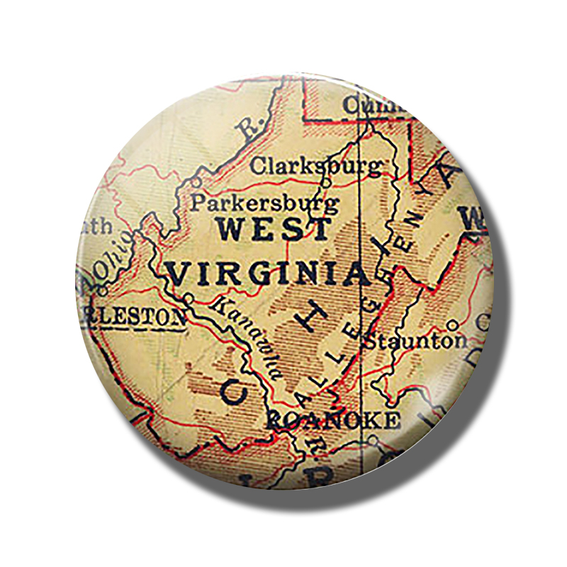 US $0.63 55% OFF|West Virginia State Map 30 MM Fridge Magnet Allegheny  Mountains Glass Dome Magnetic Refrigerator Stickers Note Holder Home  Decor-in ...