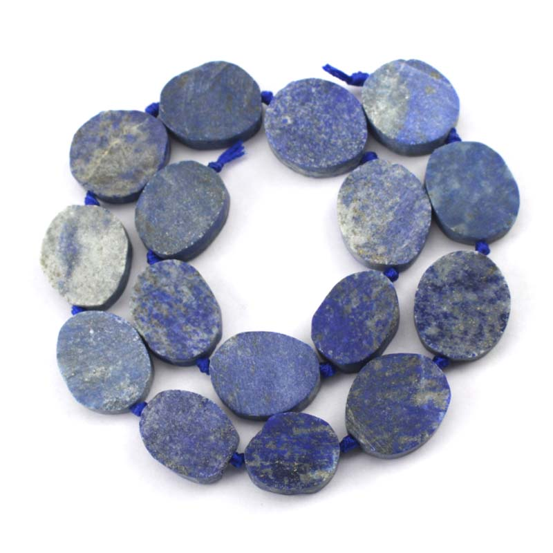 20x30mm oval lapis lazuli beads natural stone GEM beads DIY loose beads for jewelry making strand