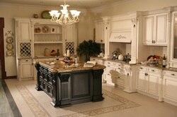 Европейский стиль кухонные шкафы из цельного дерева