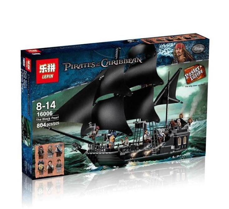font b Lepin b font 16006 Caribbean pirate ship Building Blocks Black pearl Ship Compatible