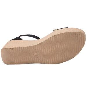 Image 3 - YALNN Zomer Hot Mode Nieuwe Zwarte Vrouwen Sandalen Vrouwelijke Schoenen voor Vrouwen Nubuck Leer Trifle Schoenen
