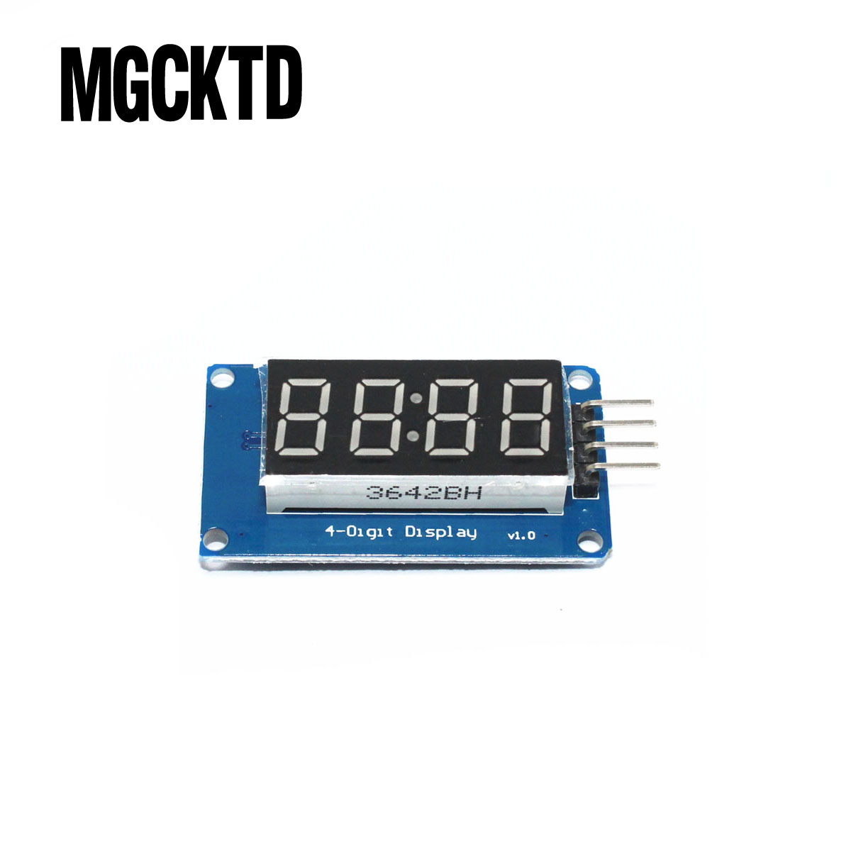 TM1637 <font><b>4</b></font> Bits Digital LED Display Module For arduino 7 Segment 0.36Inch Clock RED Anode <font><b>Tube</b></font> Four Serial Driver Board Pack image