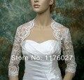 2016 Hot Sale New Fashion Wedding Wraps Shrug Satin  Jackets Bridal Coat Shawls  WC0022