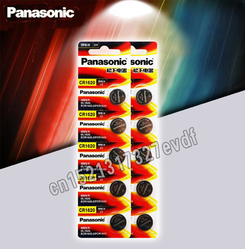 Panasonic Original Product 10Pcs/Lot Cr1620 Button Cell Batteries For Watch 3V Lithium Battery CR 1620 Remote Control Calculator