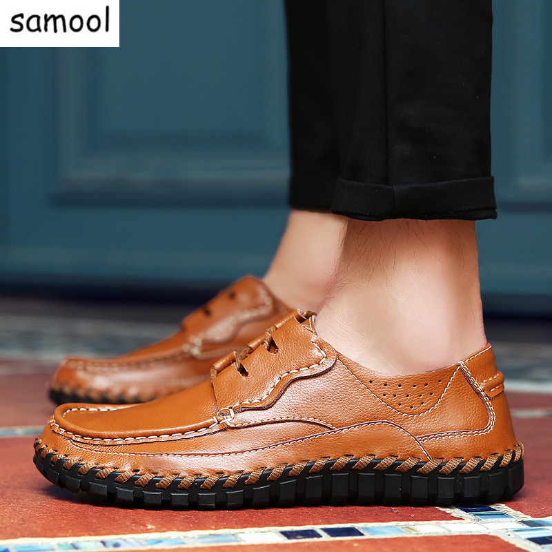 slip On Men Loafers Flats Lazy Mens Casual driving Shoes Handmade Breathable Comfortable Outdoor Travel Soft Genuine Leather 7 fashion nature leather men casual shoes light breathable flats shoes slip on walking driving loafers zapatos hombre