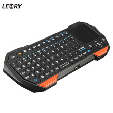 Leory New Ultra thin and Lightweight 3 in 1 Mini Wireless Bluetooth Keyboard Mouse Mice Touchpad For Windows For Android For IOS(China)