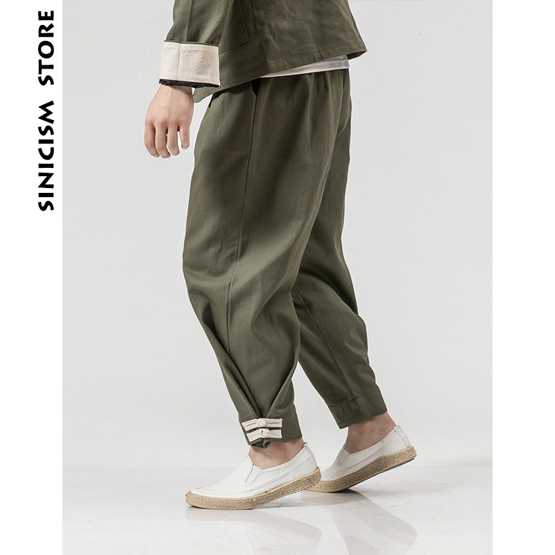 Trousers Pant Man Streetwear Plus-Size Sinicism Store Loose Male Cotton Fashion And Harajuku