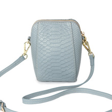 Genuine leather women bag 2017 new fashion handbags crocodile pattern shoulder Messenger bag mini shell bag lady phone bag