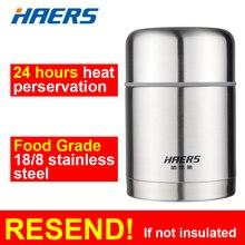Haers 600 ml thermos 18/8 edelstahl isolierte lebensmittel thermos marke neue thermos für lebensmittel lunchbox