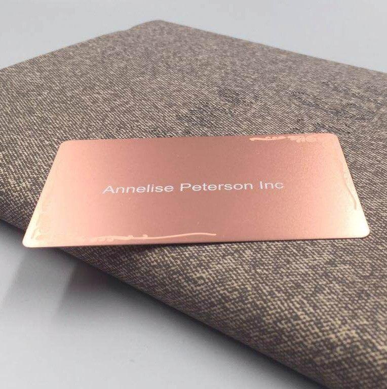 Купить с кэшбэком Professional design custom logo rose gold brass metal business card