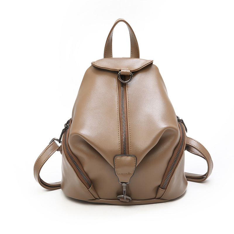 TINTON 2018 fashion ladies backpack leather bag solider color mini back pack student anti theft backpack school bags for women
