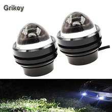 15W Car LED Eagle Eye Headlight Fog Lights Spotlights 6000K IP67 Waterproof Daytime Running Light for Vehicle Motorcycle