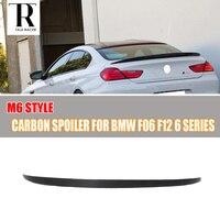 M6 Style F06 F12 F13 Carbon Fiber Rear Trunk Boot Lip Wing for BMW F06 F12 F13 640i 650i 640d 2012 2013 2014 2015 2016