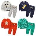 Детская одежда набор мальчик Девушки Одежда Устанавливает Мальчиков Одежда Детская Одежда для 6-7-8Years Топы + Брюки 2 Шт. Одежда для новорожденных девочек