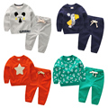 Conjuntos de Roupas Meninos conjunto de roupas menino Meninas das crianças Roupa Dos Miúdos Roupas para 6-7-8Years Tops + Pants 2 Pcs Roupas para o bebê meninas
