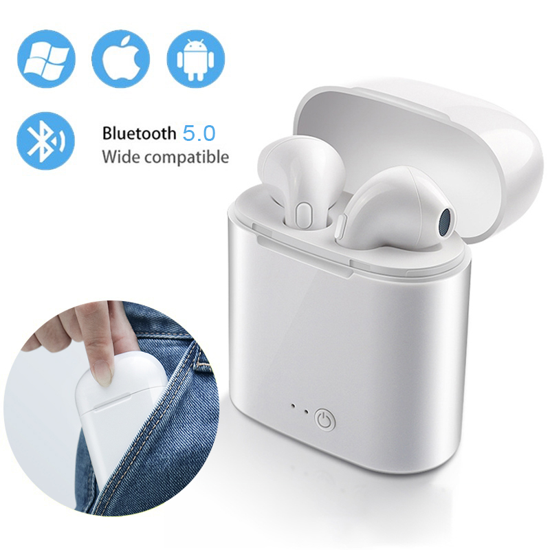 i7s TWS Mini Wireless Headphones Bluetooth 5.0 Earphone Stereo Earbud Headset With Charging Box Mic For All Smart Mobile Phonei7s TWS Mini Wireless Headphones Bluetooth 5.0 Earphone Stereo Earbud Headset With Charging Box Mic For All Smart Mobile Phone