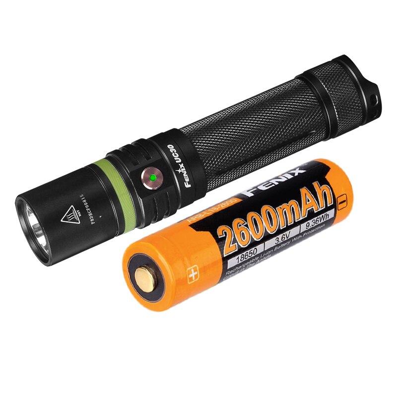 2017 New Fenix UC30 Cree XP L HI V3 LED Flashlight 1000 lumens with a 2600mAh 18650 battery|lumens led|lumen led flashlight|lumen flashlight - title=