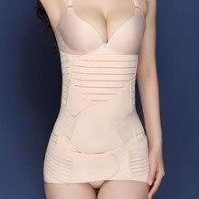 3 teile/satz Modellierung gürtel Body Shaper taille trainer Postpartale Erholung Bauch Gürtel Body Shaper Hip Cincher Bauch Binder 3 Größen