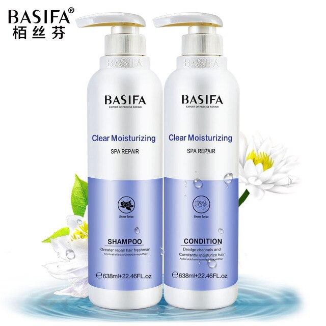 Basifa натуральных волос, шампунь и Кондиционер питательный набор по уходу за волосами ремонт сухих волос 638 мл * 2