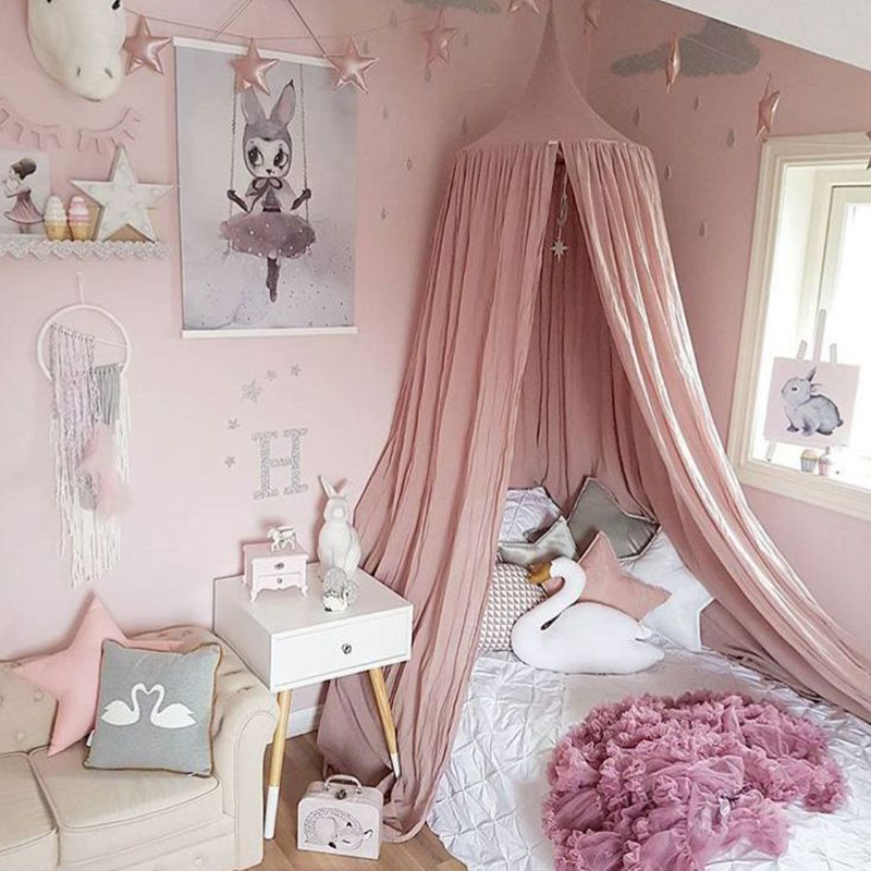 Baby Bedding Crib Netting Baby Crib Netting Princess Decoration Dome Bed Canopy Childrens Bedding Round Lace Mosquito Net For Baby Photography Props Gift Warm And Windproof