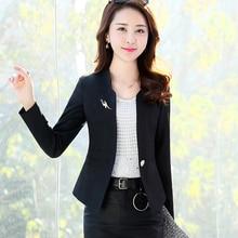 J63237 Spring Autumn New Fashion Women Blazer Casual One Button Small S