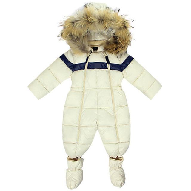 Recién nacido Bebé Traje Para La Nieve ropa de Invierno Niños Niñas Abajo mamelucos Siberia Nieve de los niños de Ropa Infantil Prendas de vestir exteriores Kids Mono