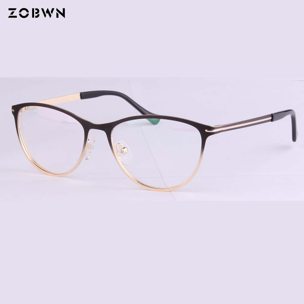 New 2018 Fashion Oculos De Grau Feminino Eyewear Frames Gradient Color Optical Brand Design Eyeglasses Frame Women UV For Myopia