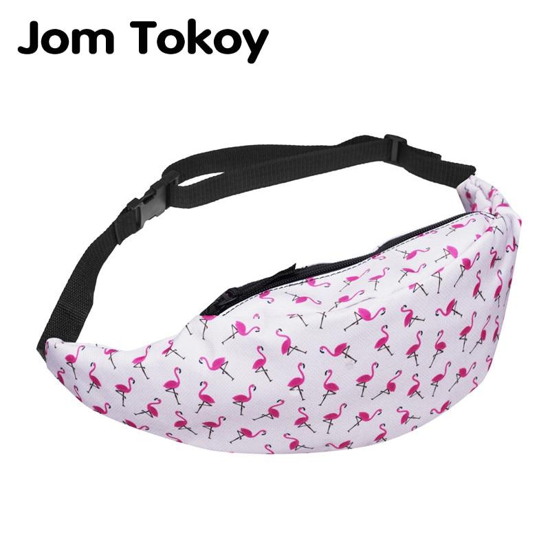 Jom Tokoy New 3D Colorful Waist Pack For Men Fanny Pack Style Bum Bag Flamingo Women Money Belt Travelling Waist Bag