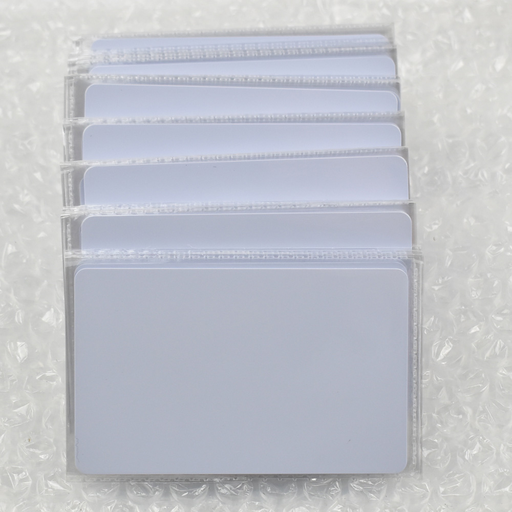 500pcs/lot nfc 1k S50 Blank card Thin pvc Card RFID 13.56MHz ISO14443A IC Smart Card Fudan Chips Waterproof winfeng 500pcs lot custom printing irregular pvc die cut combo key chain card 3 parts combo card easy snap off key card