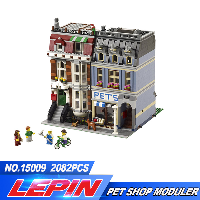 LEPIN 15009 City Street set Pet Shop Model Building Kits Blocks action bricks baby lovely toy 10218DIY Educational Gift for Girl building blocks stick diy lepin toy plastic intelligence magic sticks toy creativity educational learningtoys for children gift