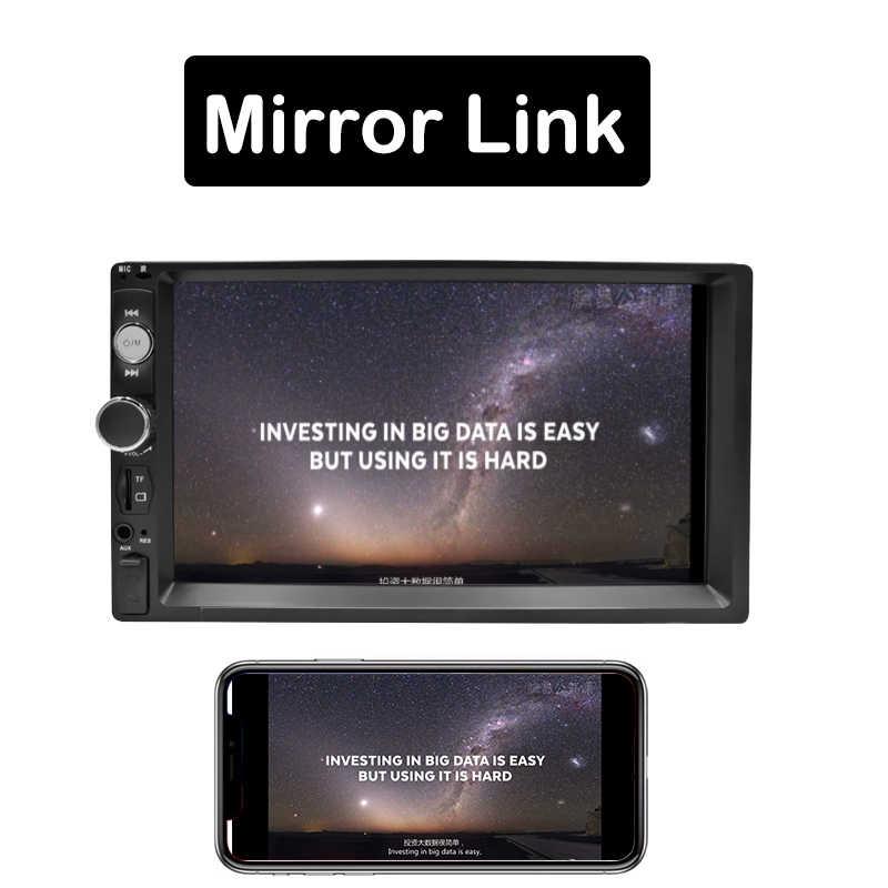 "2DIN радио автомобиля 7 ""HD Авторадио Мультимедиа плеер 2 Din сенсорный экран Авто аудио стерео MP5 Bluetooth USB TF FM камера Android"