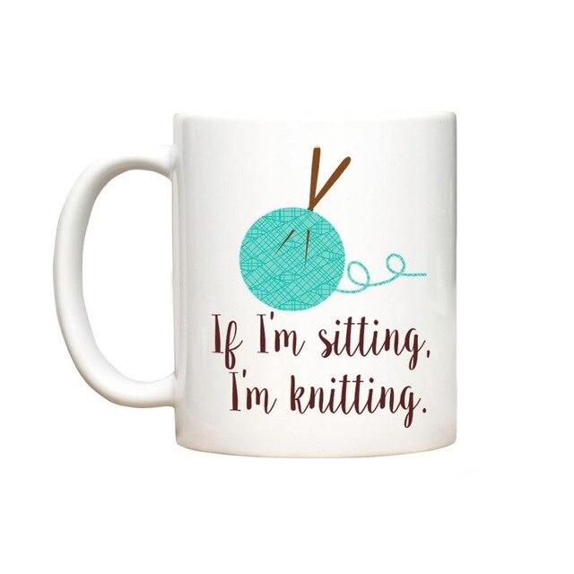 Tejido de punto de Ganchillo Taza taza casa calcomanía taza de té de ...