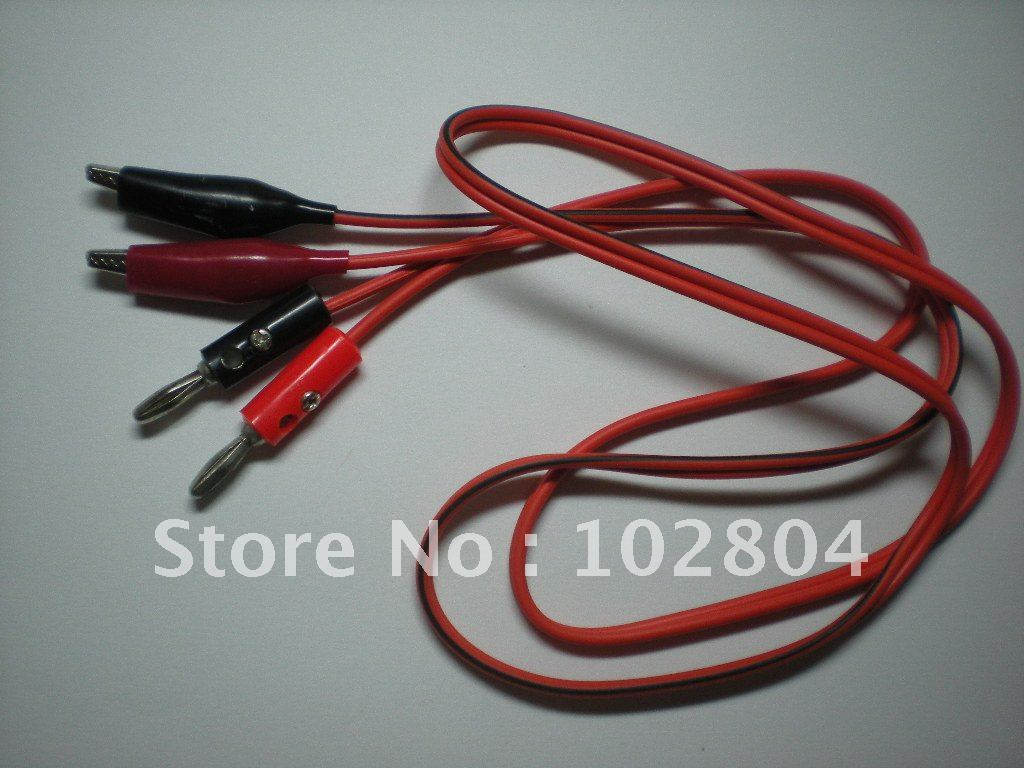 Alligator Clip Test Lead to Banana Plug line cable 1M Black&Red 50 ...